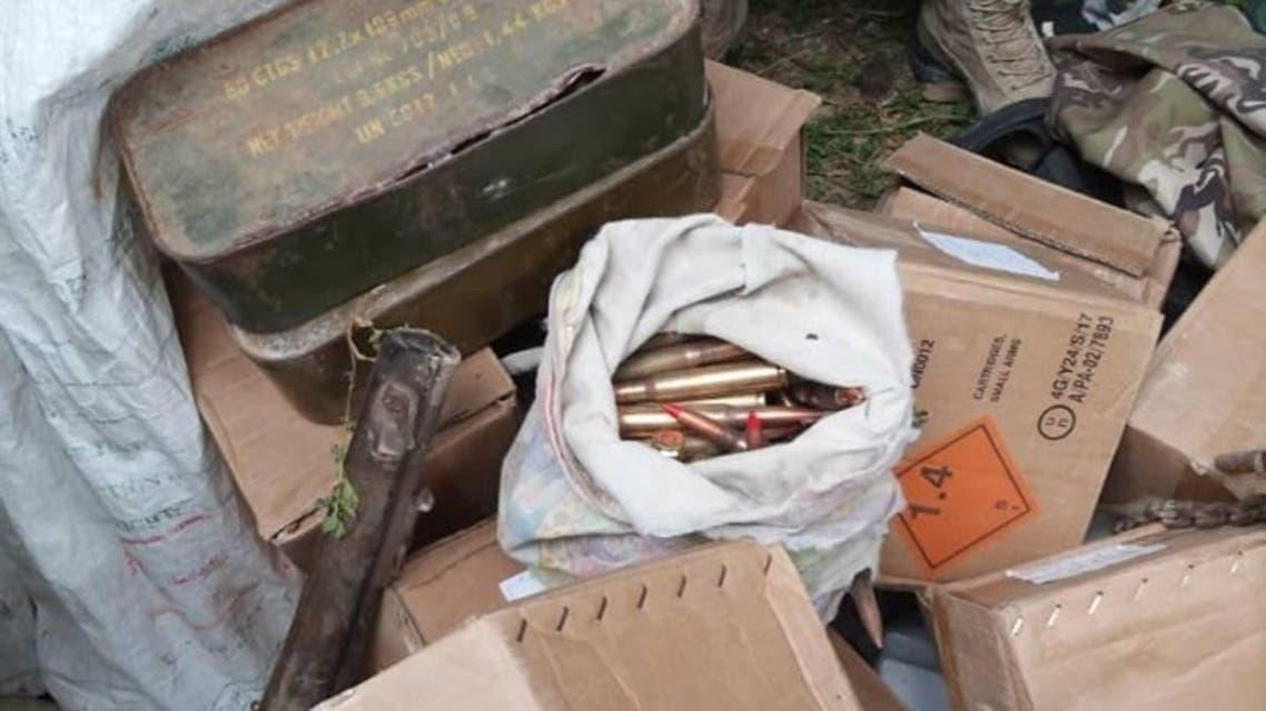 کشف یک ذخیرهگاه مهمات و مواد انفجاری طالبان در فاریاب افغانستان