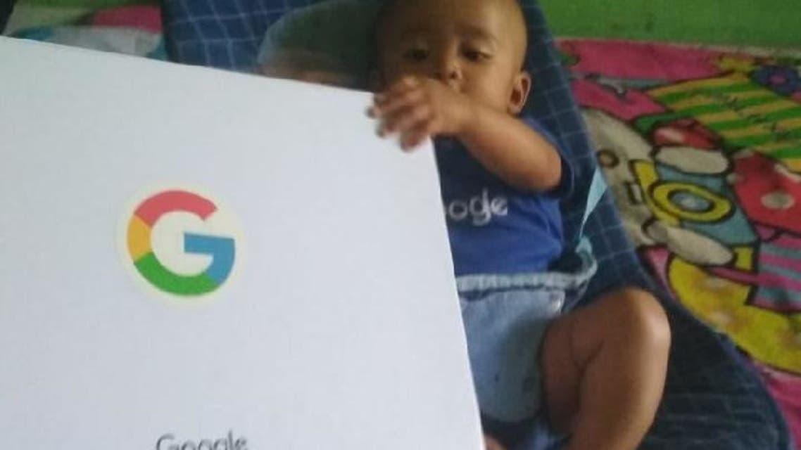 هدایای شرکت گوگل برای نوزادی که گوگل نامگذاری شده بود