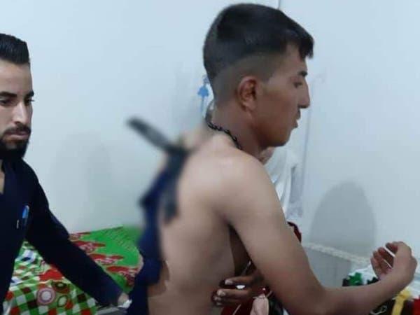 تصویری.. حمله یک زن داعشی با چاقو به یک نگهبان در اردوگاه الهول