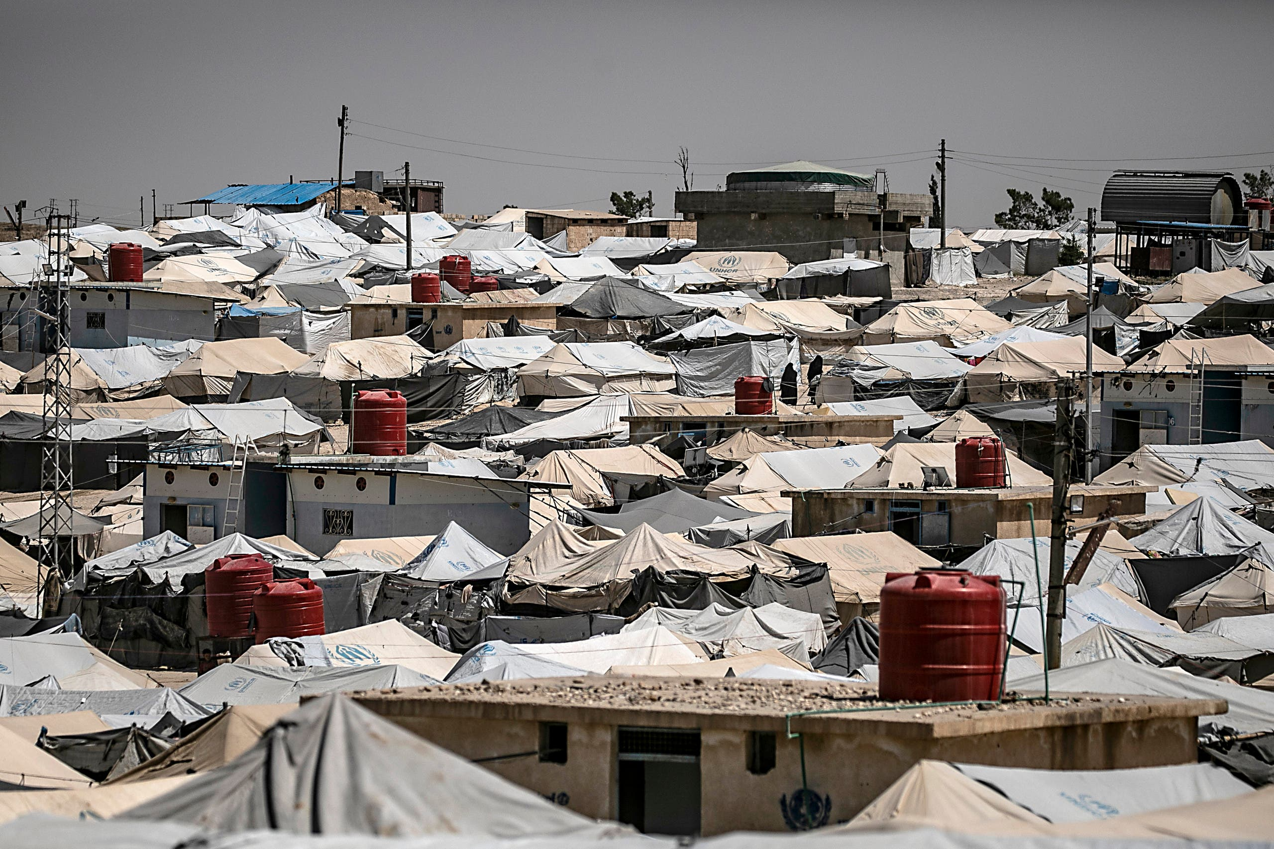 Al-Hol camp for displaced people in al-Hasakeh governorate in northeastern Syria. (File photo: AFP)