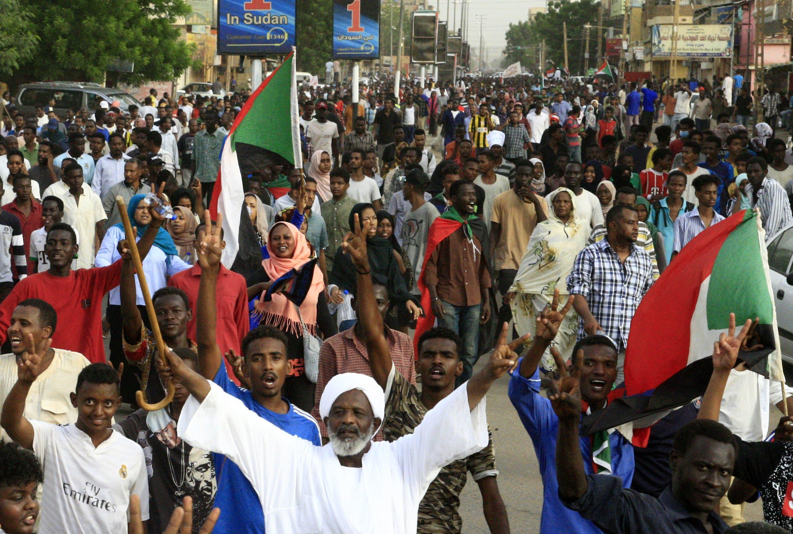 من تظاهرات السودان