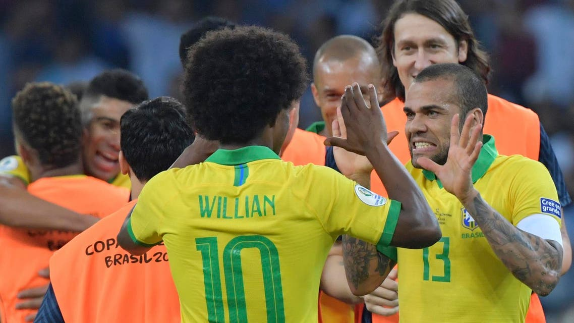 Willian was a late replacement in the squad for Neymar.
