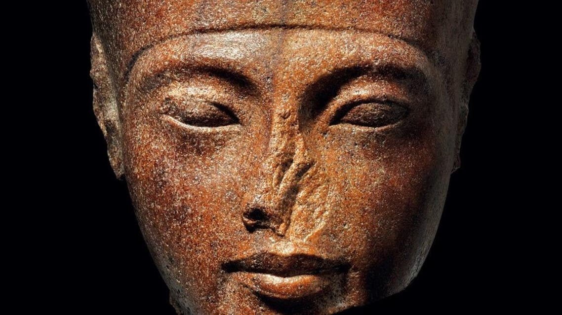 An undated handout picture shows a 3,000-year-old stone bust of Tutankhamun. (AFP)