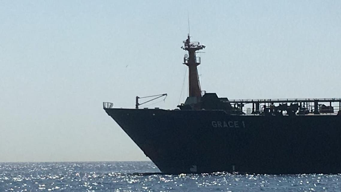 Oil supertanker Grace 1 on suspicion of being carrying Iranian crude oil to Syria is seen near Gibraltar, Spain in this picture obtained from social media, July 4, 2019. (Reuters)
