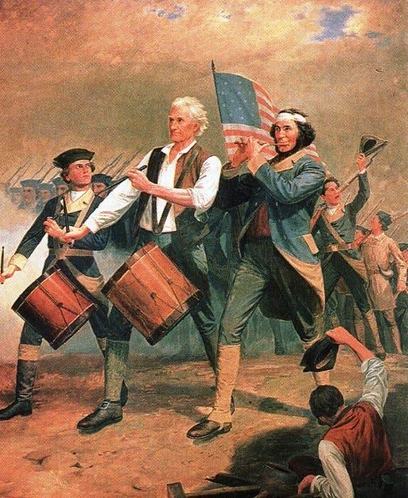 لوحة أميركية تجسد الوطنية