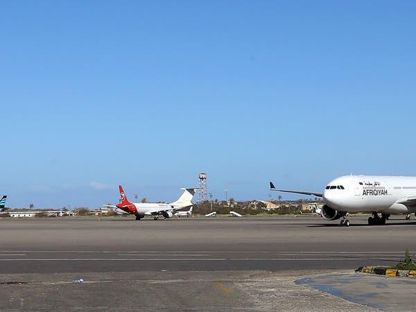 تعليق الطيران بمطار معيتيقة ونقل الرحلات لمصراتة بليبيا