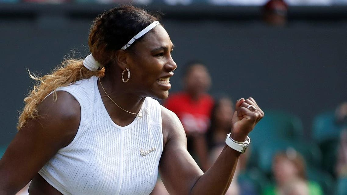 Serena Williams of the U.S. reacts during her first round match against Italy's Giulia Gatto-Monticone. (Reuters)