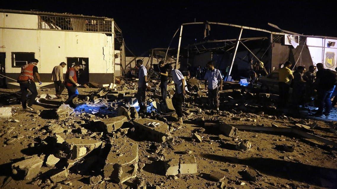 Tripoli airstrike (AFP)