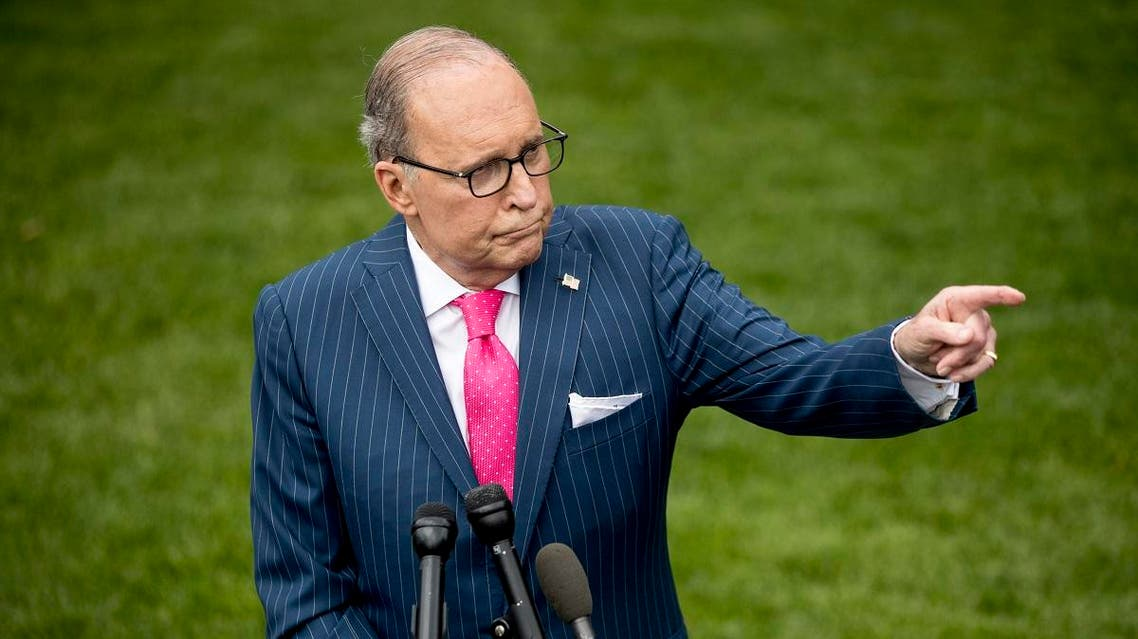 White House chief economic adviser Larry Kudlow speaks to reporters the North Lawn of the White House in Washington. (File photo: AP)