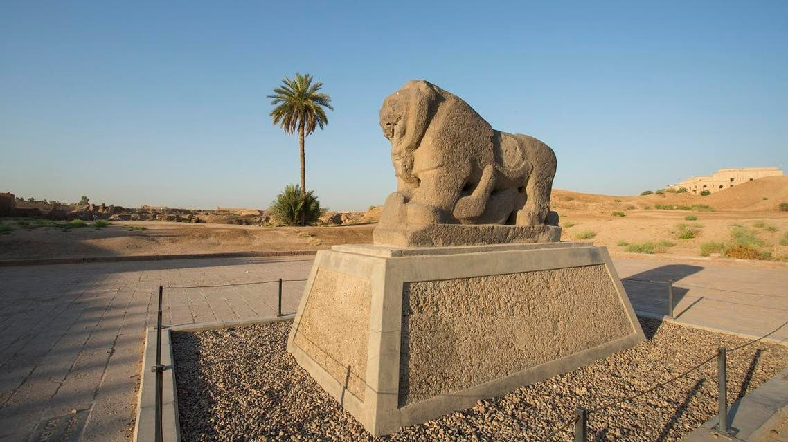 The Babel's Lion at the ancient archaeological site of Babylon, south of the Iraqi capital Baghdad. (AFP)