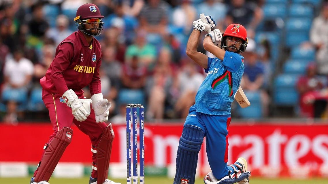 Afghanistan's Ikram Alikhil in action against the West Indies  in the ICC Cricket World Cup group match at Headingley, Leeds, Britain, on July 4, 2019.  (Reuters)
