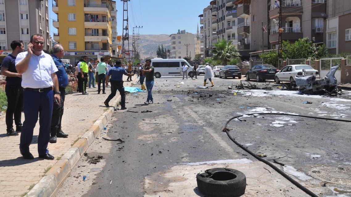 مكان التفجير في الريحانية 5-7-2019