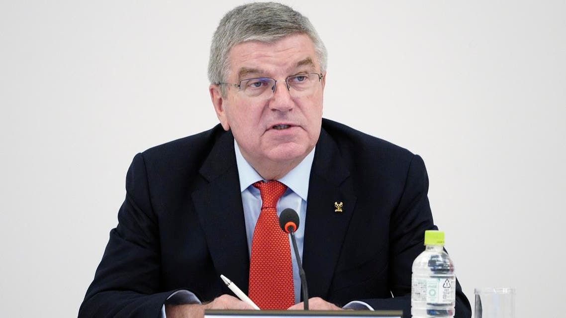 International Olympic Committee (IOC) President Thomas Bach speaks during an IOC Executive Board meeting in Tokyo Friday, Nov. 30, 2018.  (AP)