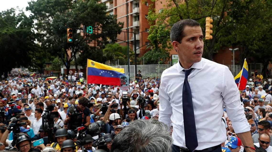 Juan Guaido rally against Maduro's government, in Caracas. (Reuters)