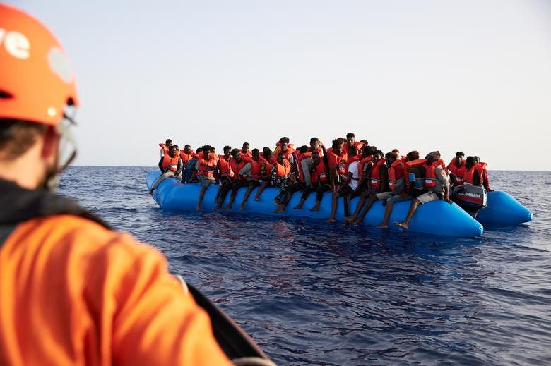Migrants rescued at sea