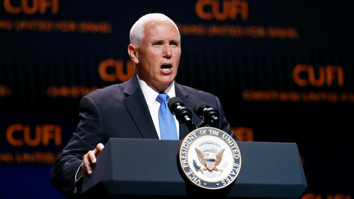 Vice President Mike Pence speaks at the Christians United for Israel's annual summit. (AP)