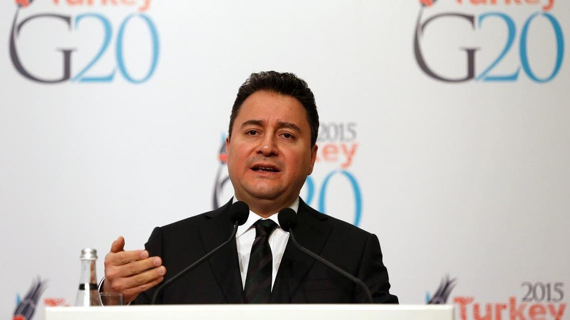 Turkey's Deputy Prime Minister Babacan speaks during a news conference. (Reuters)