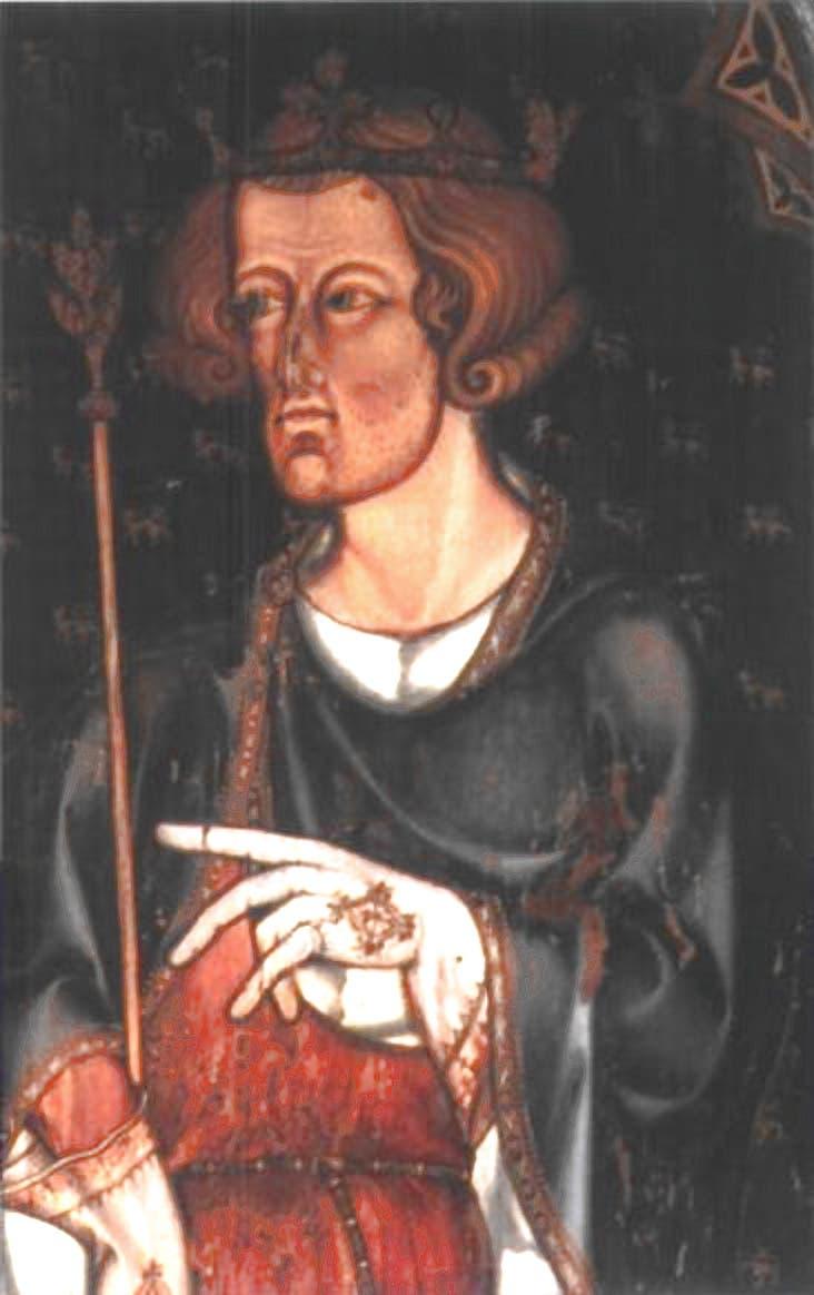 رسم تخيلي لملك إنجلترا إدوارد الأول