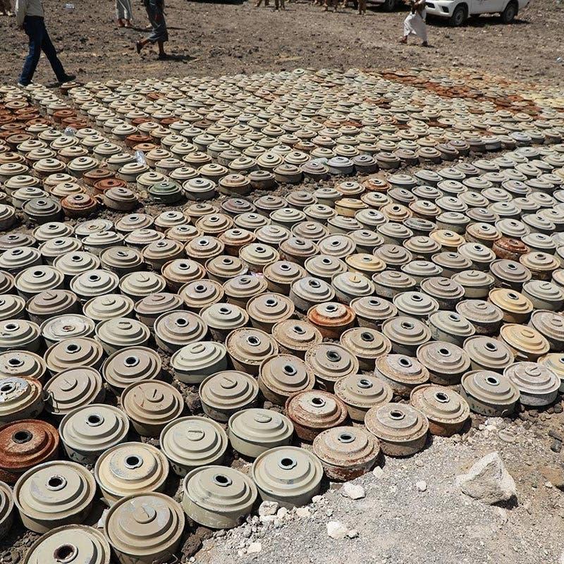 اليمن.. نزع 795 لغماً حوثياً خلال أسبوع