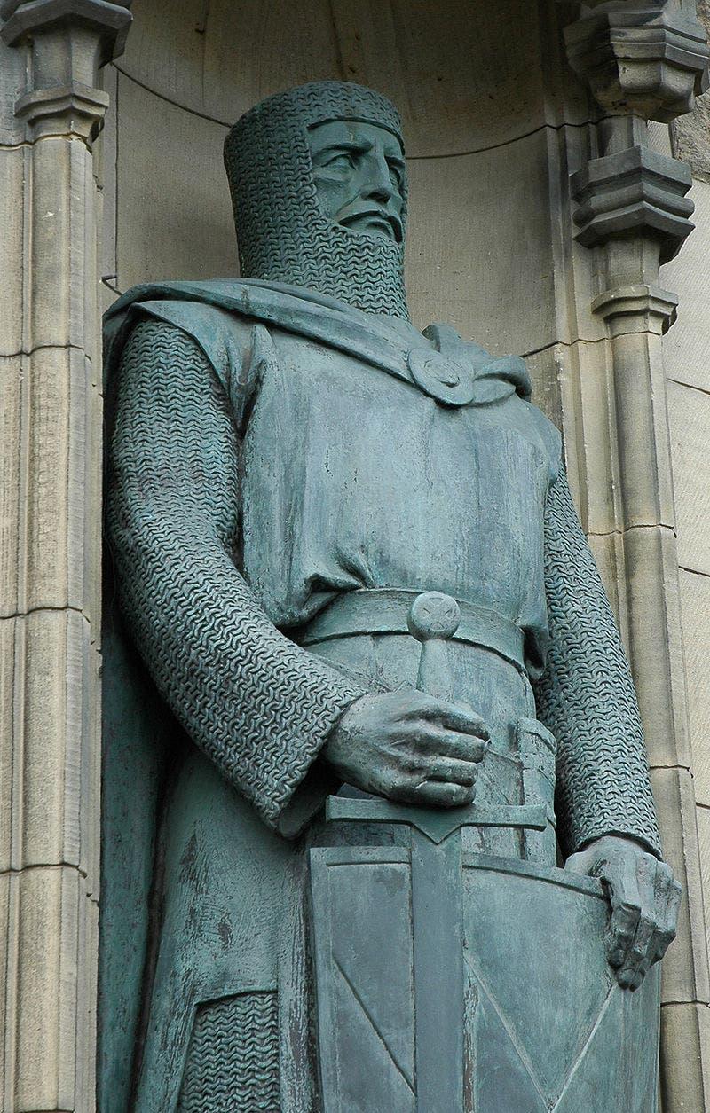 تمثال يجسد شخصية وليام والاس