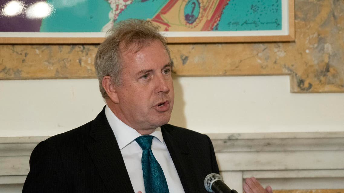 British Ambassador Kim Darroch hosts a National Economists Club event at the British Embassy in Washington. (AP)