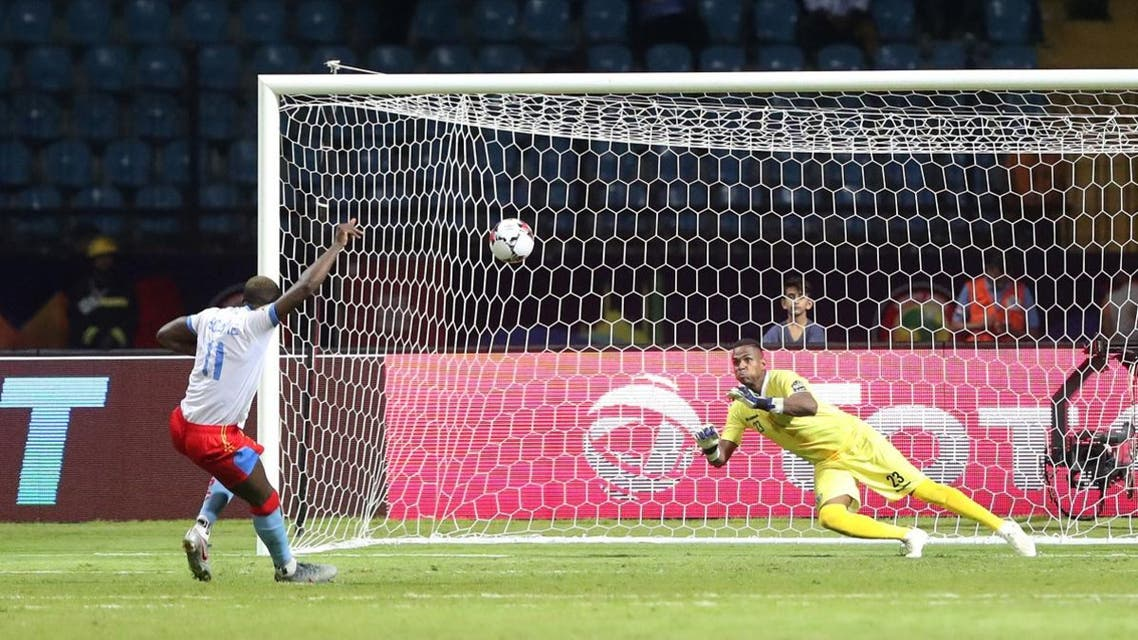 DR Congo's Yannick Bolasie misses a penalty during the shootout against Madagascar in The Africa Cup of Nations 2019  Round of 16  on July 7, 2019.  (Reuters)