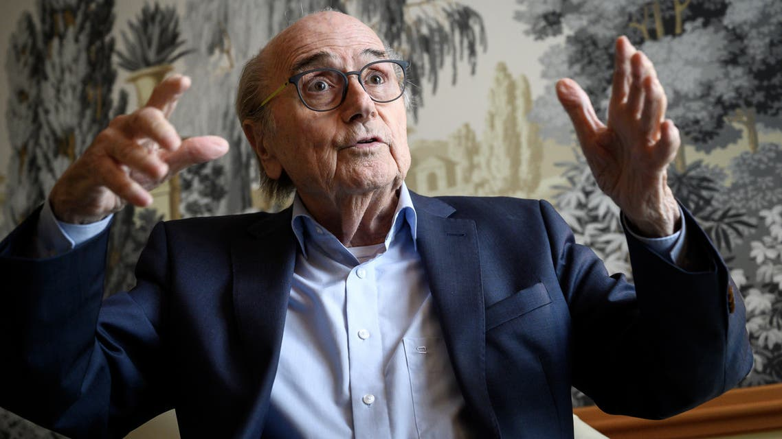 Former FIFA president Sepp Blatter looks on during an interview with AFP on May 28, 2019 in Zurich. Sepp Blatter has blasted his successor as FIFA head Gianni Infantino for thinking he can ride roughshod over decisions already made by the organisation after plans for a 48-team 2022 World Cup were shelved.