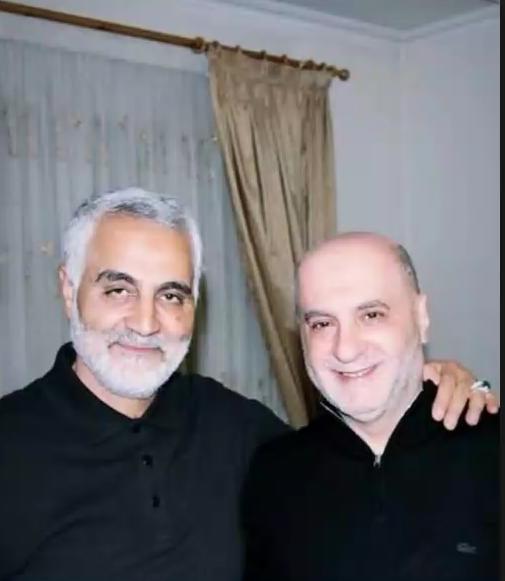 أمين شري مع قاسم سليماني