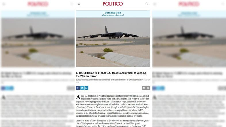 Qatari propaganda campaign intensifies with paid articles in