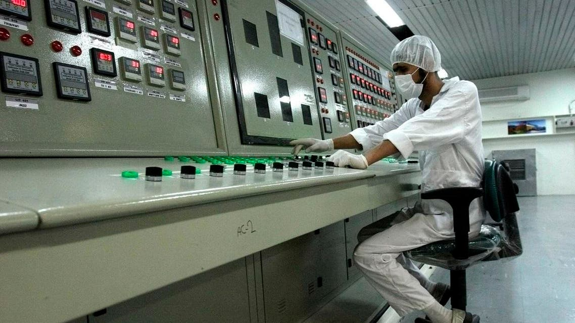 an Iranian technician works at the Uranium Conversion Facility just outside the city of Isfahan, Iran. (File photo: AP)