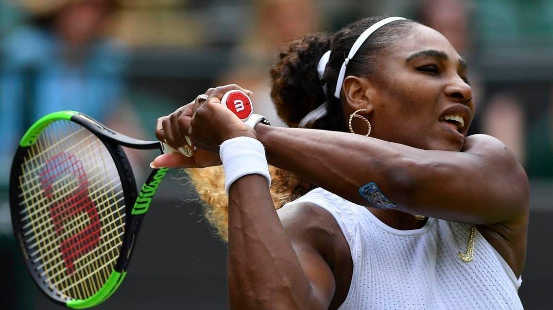 Serena Williams at Wimbledon. (AFP)