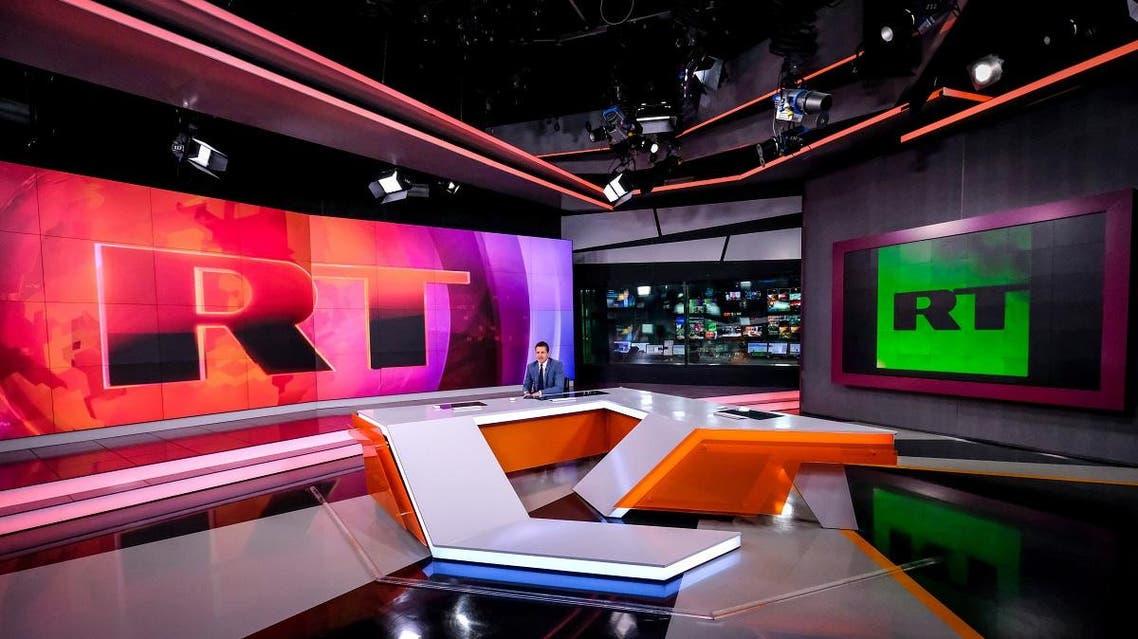 RT studio. (AFP)