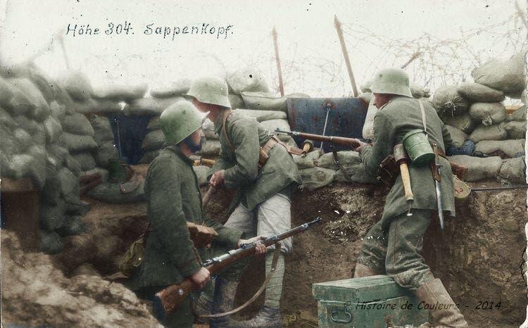 صورة لعدد من الجنود الألمان خلال الحرب العالمية الأولى
