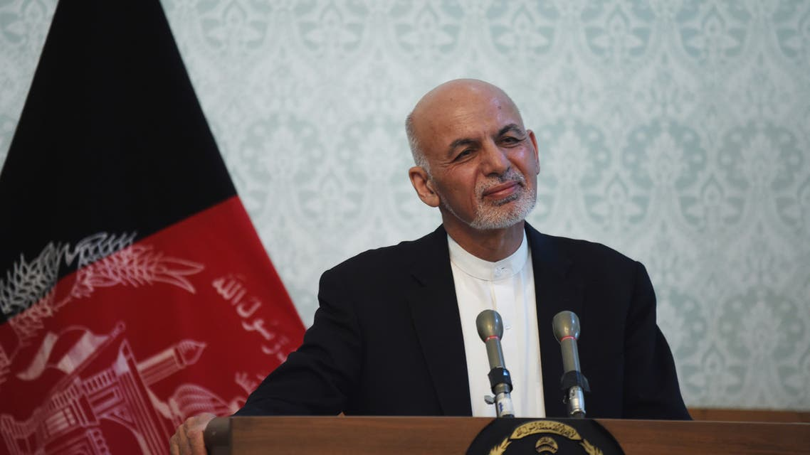 Afghan President Ashraf Ghani speaks during a joint press conference with Secretary General of North Atlantic Treaty Organization (NATO) Jens Stoltenberg (unseen) at the Presidential Palace in Kabul on November 6, 2018. NATO chief Jens Stoltenberg said on November 6 Afghanistan's chances for peace were greater now than in many years, even as the Taliban step up attacks on Afghan forces, which are suffering record high casualties.