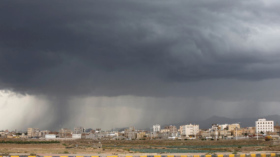 FILE PHOTO: Heavy rain pounds Sanaa, Yemen April 22, 2019. REUTERS/Khaled Abdullah/File Photo