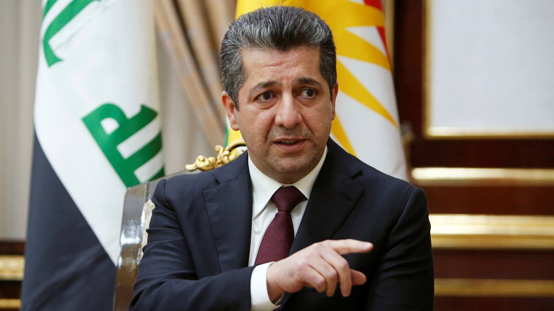 Masrour Barzani, incoming Prime Minister of Kurdistan region speaks during an interview with Reuters in Erbil, Iraq July 9, 2019. Picture taken July 9, 2019. REUTERS/Azad Lashkari