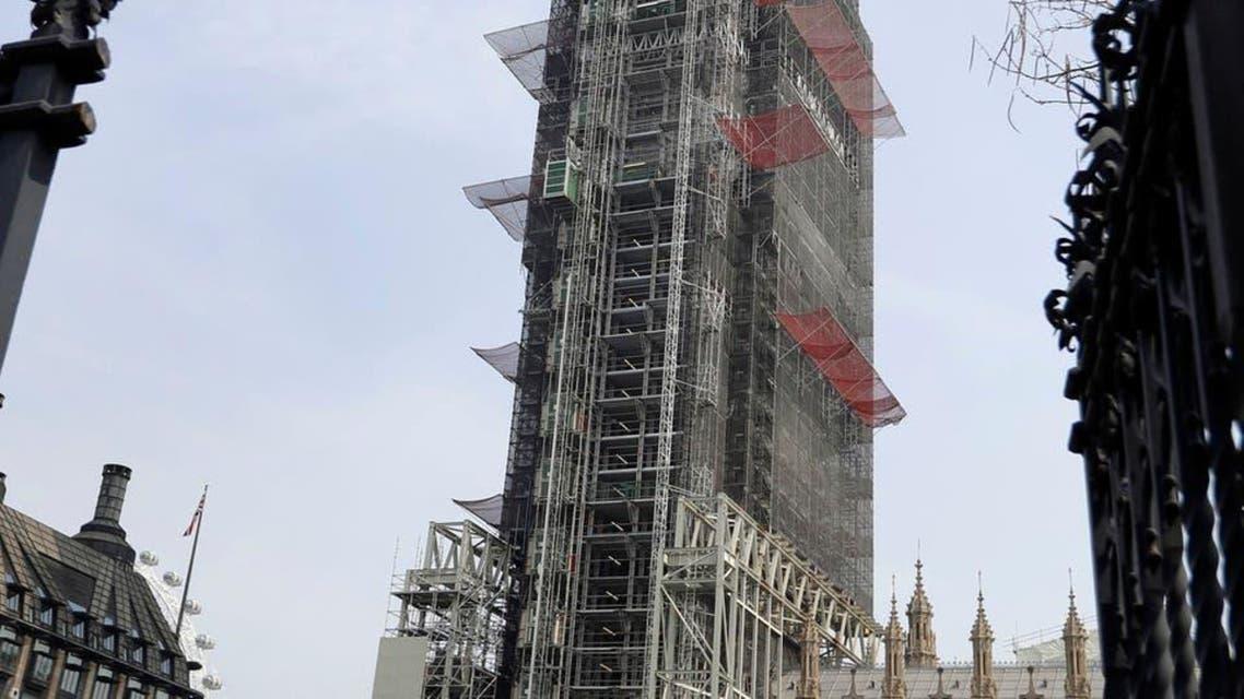 برطانیہ کے بگ بین کلاک ٹاور پر مرمتی کام جاری ہے