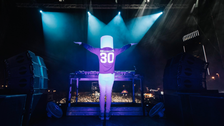DJ Marshmello wows fans during his first concert in the Kingdom