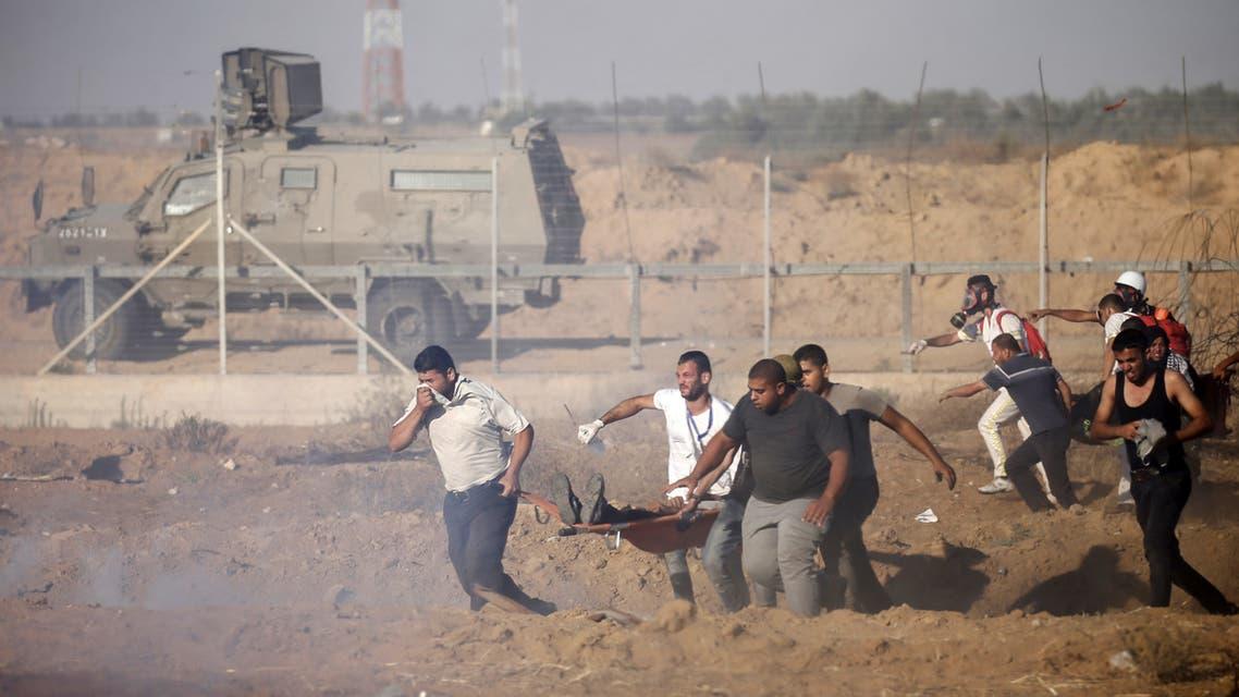 مواجهات على حدود غزة gaza