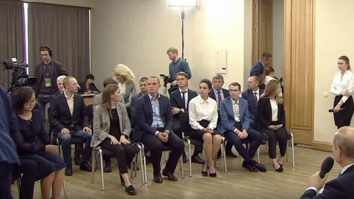 Student faded while taking with Russia's president