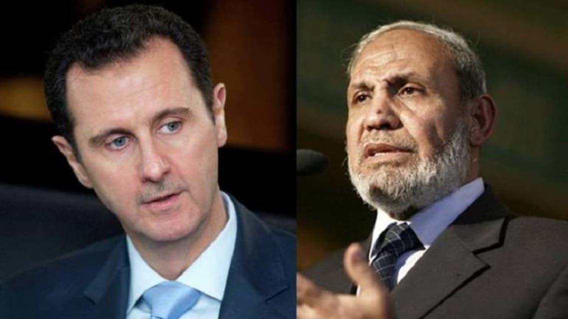 محمود الزهار و بشار الأسد