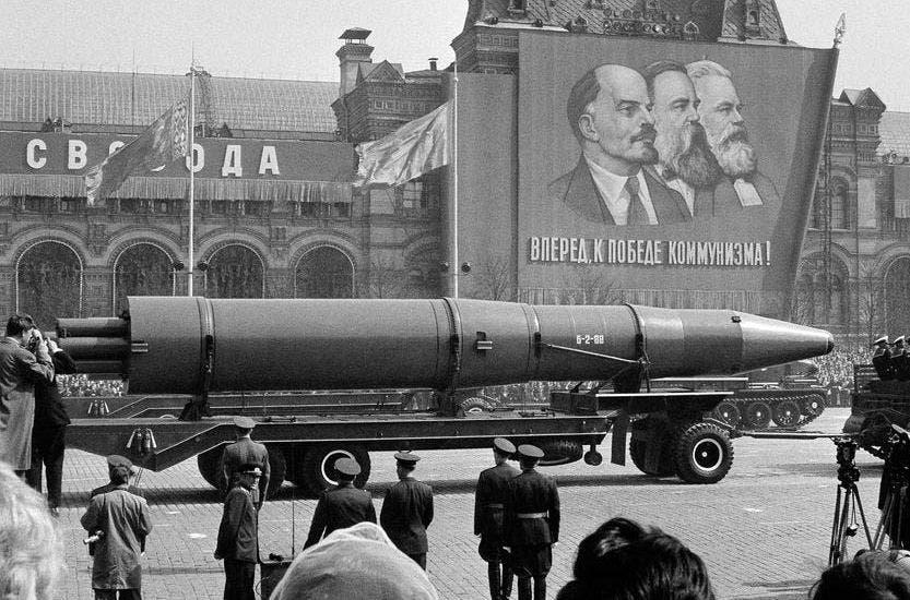 صورة لأحد الصواريخ السوفيتية خلال خمسينيات القرن الماضي