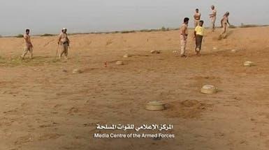 شاهد الجيش اليمني ينزع 680 لغما زرعها الحوثي بحجة وصعدة