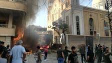 صور.. انفجار سيارة مفخخة قرب كنيسة في القامشلي بسوريا