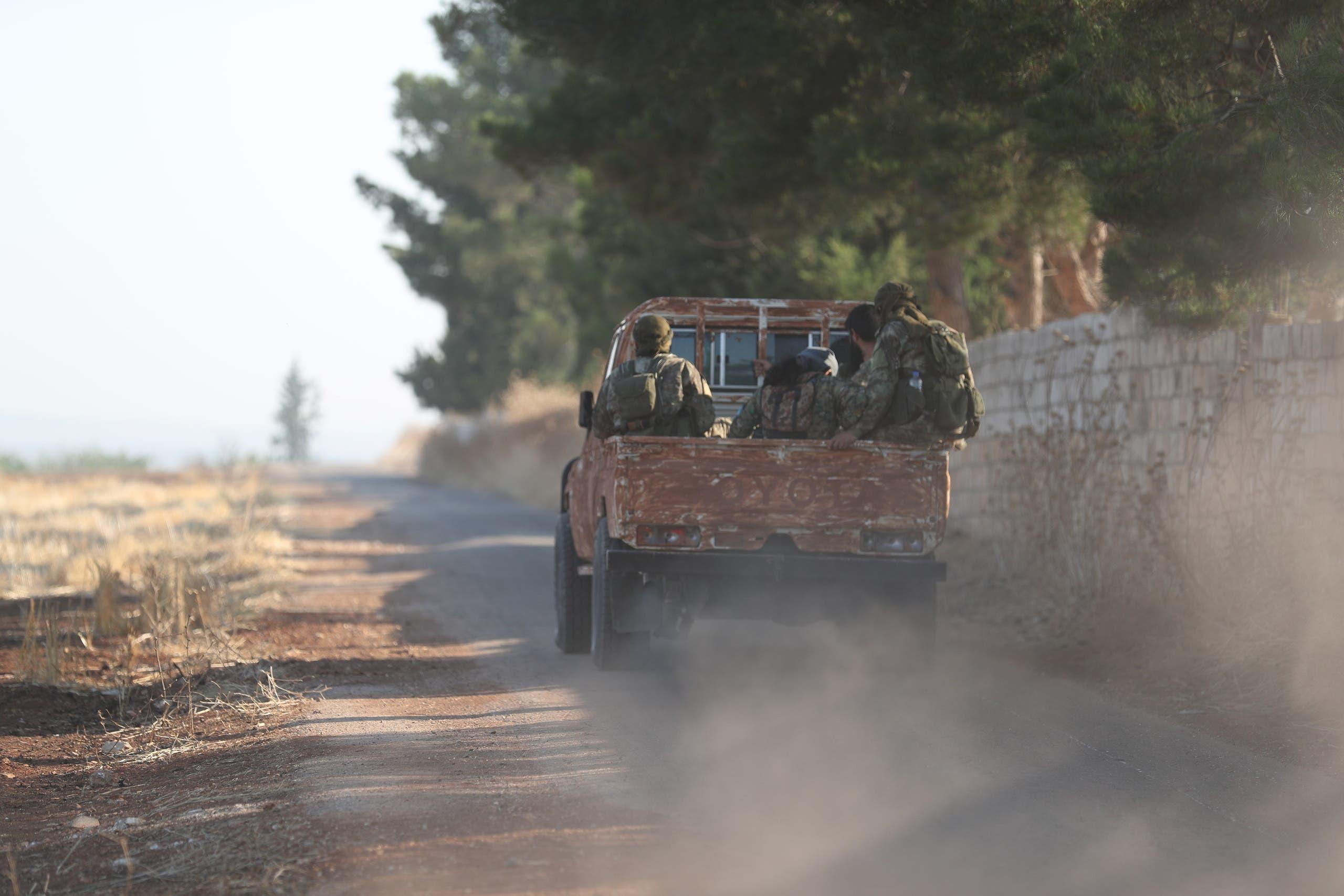 إحدى سيارات فصائل المعارضة في إدلب