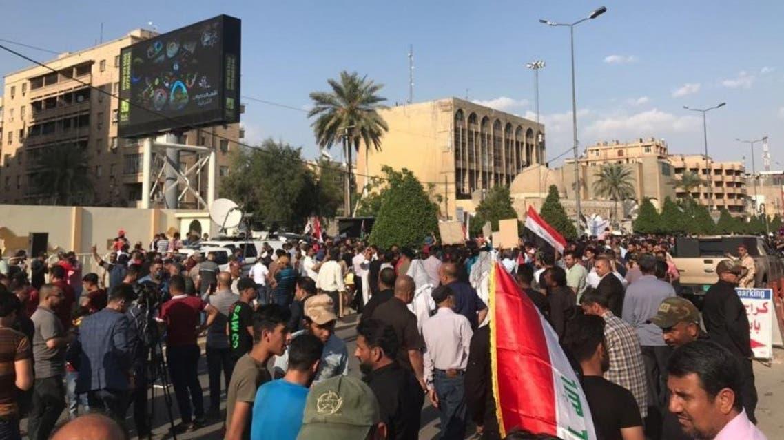 مظاهرات سابقة أمام سفارة البحرين في بغداد