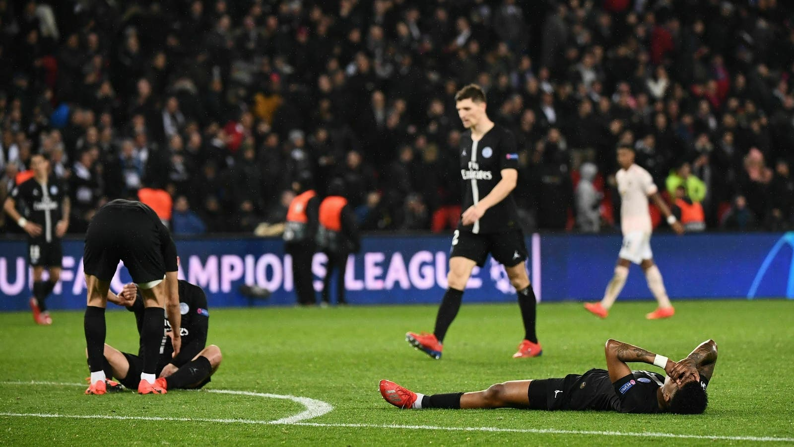 خروج باريس سان جيرمان أمام مانشستر يونايتد في دور الـ بدوري أبطال أوروبا الموسم المنصرم