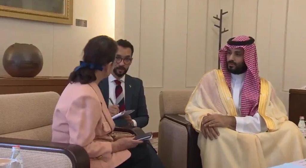 المبتعث السعودي بجوار الأمير محمد بن سلمان