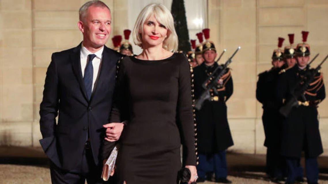 وزير البيئة الفرنسي وزوجته