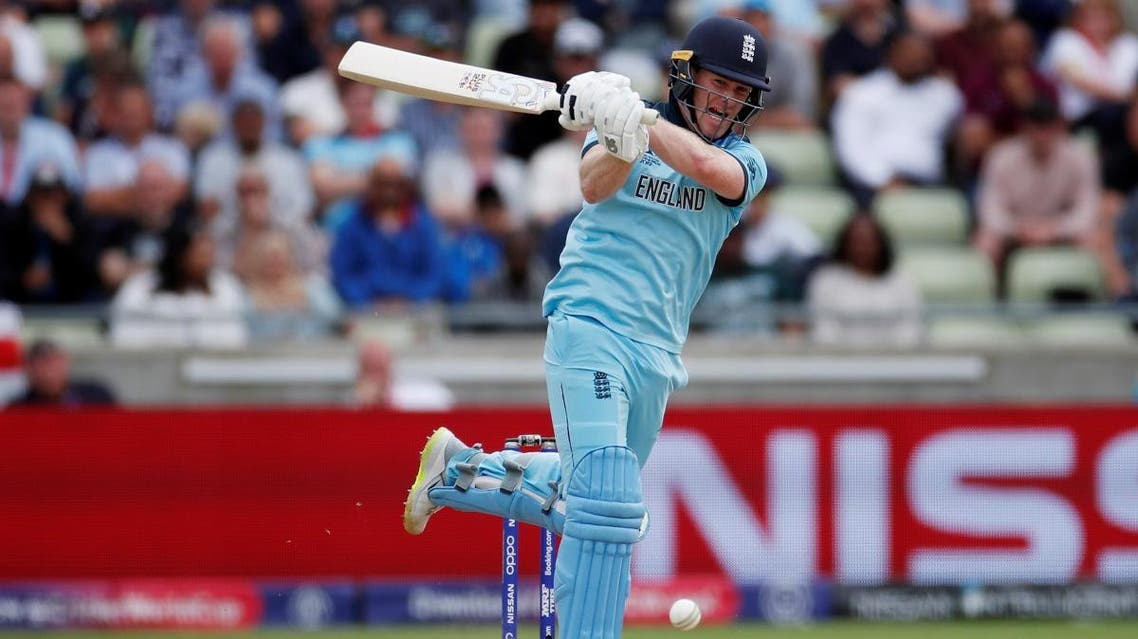 England's Eoin Morgan in action during the semifinal match against Australia at Edgbaston, Birmingham, Britain, on July 11, 2019. (Reuters)